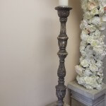 rustic candlestick very tall