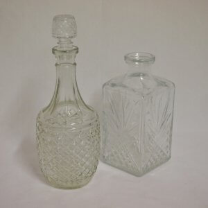 Vintage cut glass decanter vase