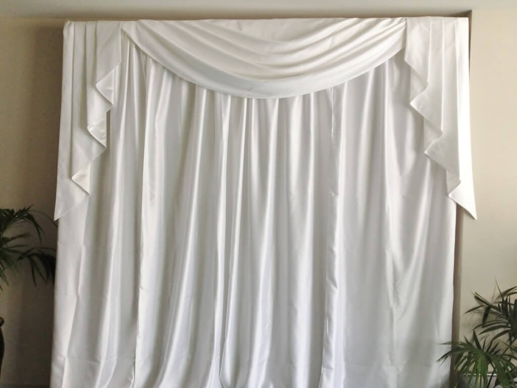 Covers decoration hire luxury drape backdrop covers for Background curtain decoration