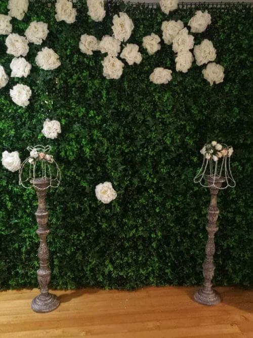 Flower Wall Lush Green