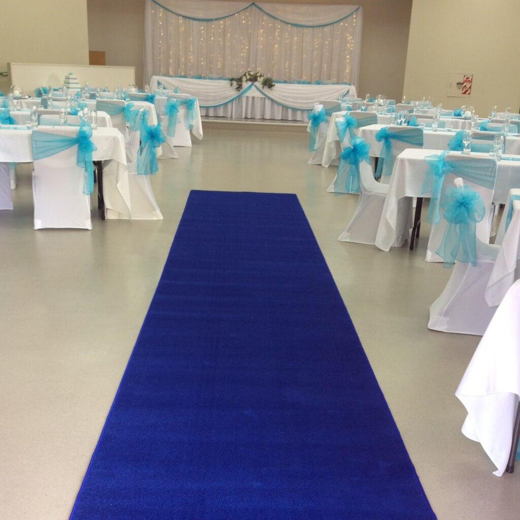 Plush Blue Carpet Runner