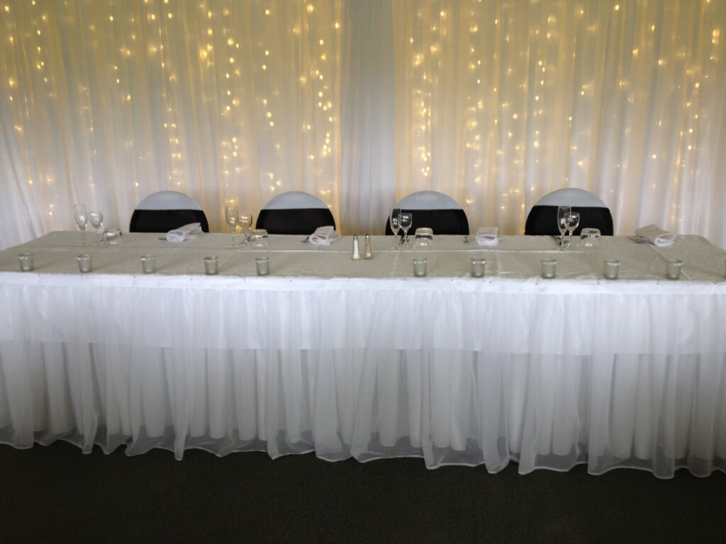 Covers Decoration Hire Chiffon Table Skirt Covers