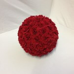 Red Kissing Ball 18cm
