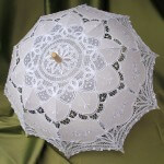 White Lace Parasols