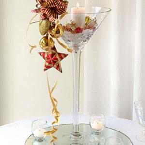 Martini Christmas Centrepiece