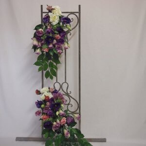 Purple Florals for Arch