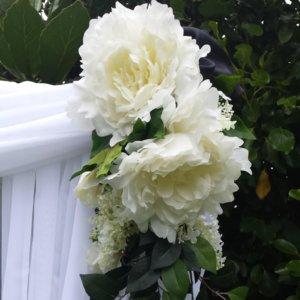 White wedding Arch Flowers