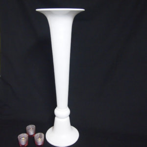 White Tall Cone Vase