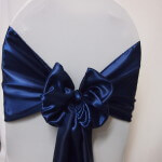 Navy Satin Wide