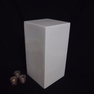 Small white pedestal