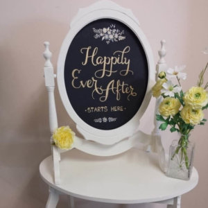 Happily Ever After Chalk Board Sign