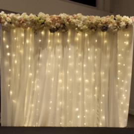 Fairylight with floral header