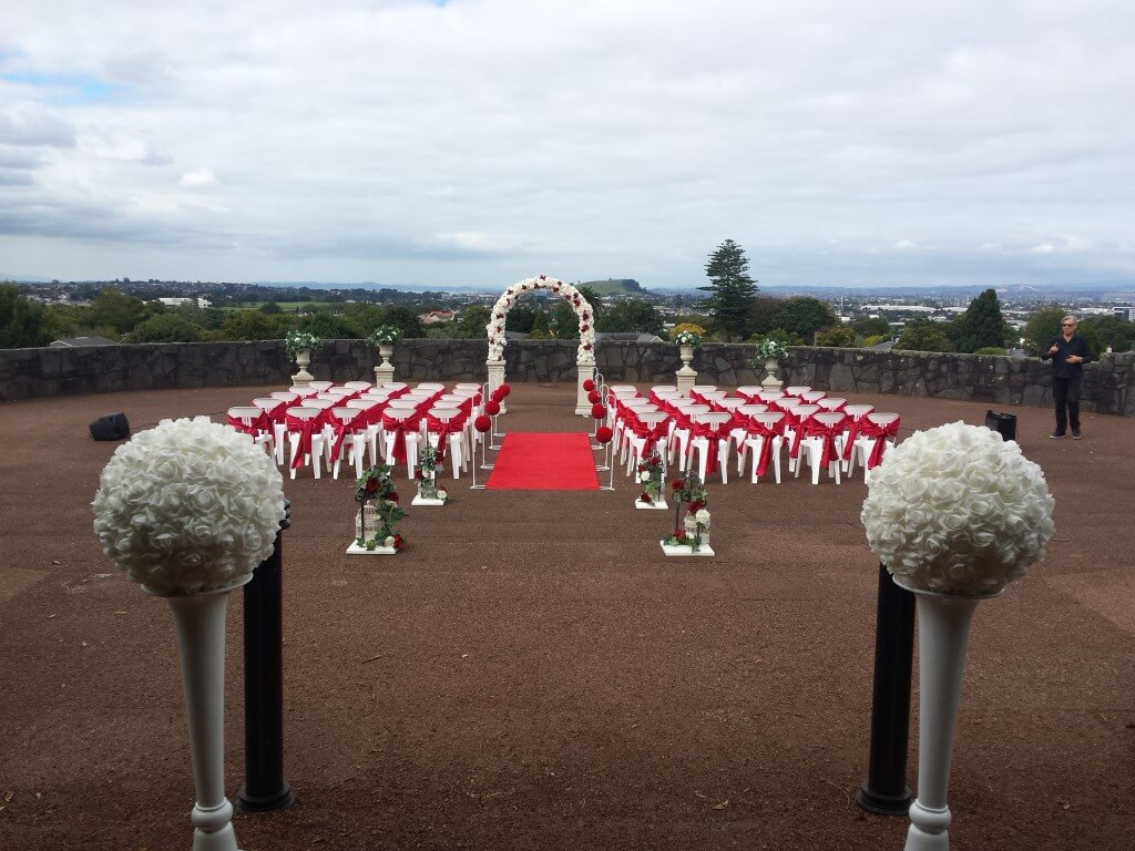 Covers decoration hire rosa wedding arch hire auckland extremely rosa wedding arch hire aisle decoration junglespirit Image collections