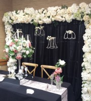 Floral Backdrop wedding