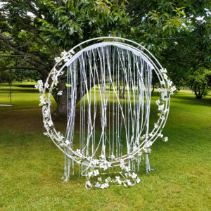 circle arch on stand dressed