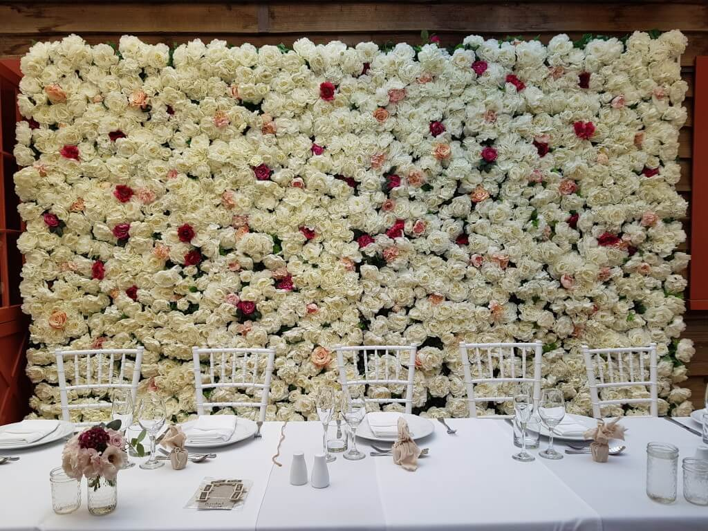 Covers decoration hire wedding event decoration design hire flower wall four metres junglespirit Choice Image