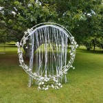circle arch pearl lace