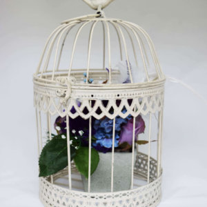 cream birdcage medium