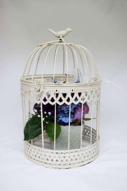 cream birdcage medium