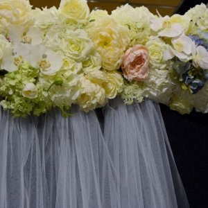 Floral Backdrop Pelmets