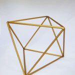 Gold-geometric-centrepiece