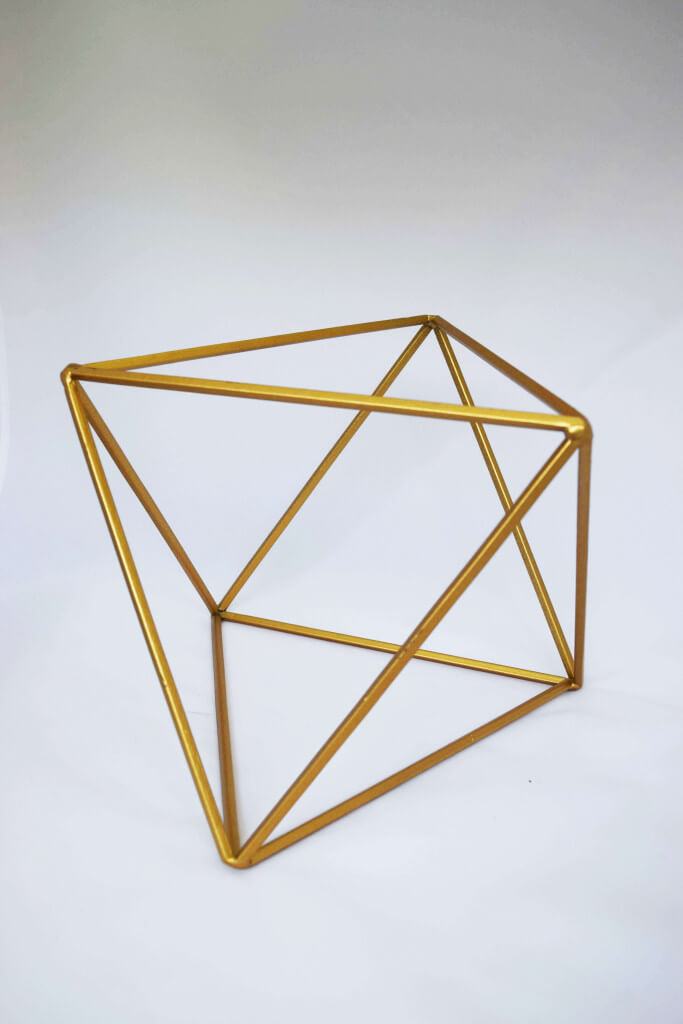 Covers Decoration Hire Gold Geometric Covers