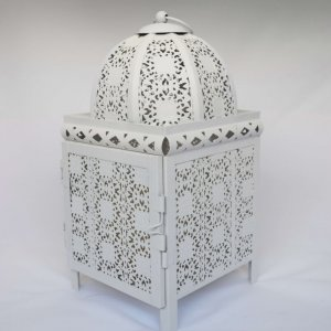 small white moroccan lantern
