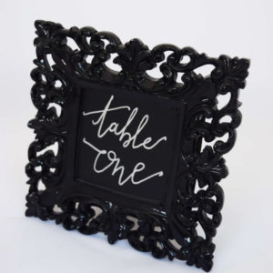 table number frame black