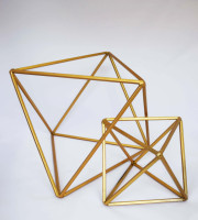 gold geometric large and small