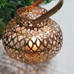 gold scroll lantern