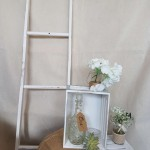 rustic white ladders