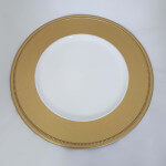 Gold Shimmer Charger plate