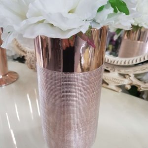 Rose Gold Ceramic Vase