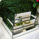 Large Mirror Cake Stand