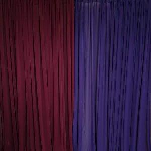 burgundy draping