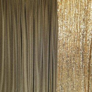 gold draping