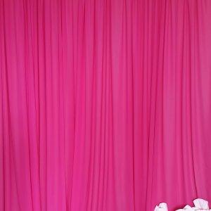 hot pink draping