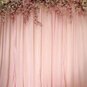 pink chiffon draping