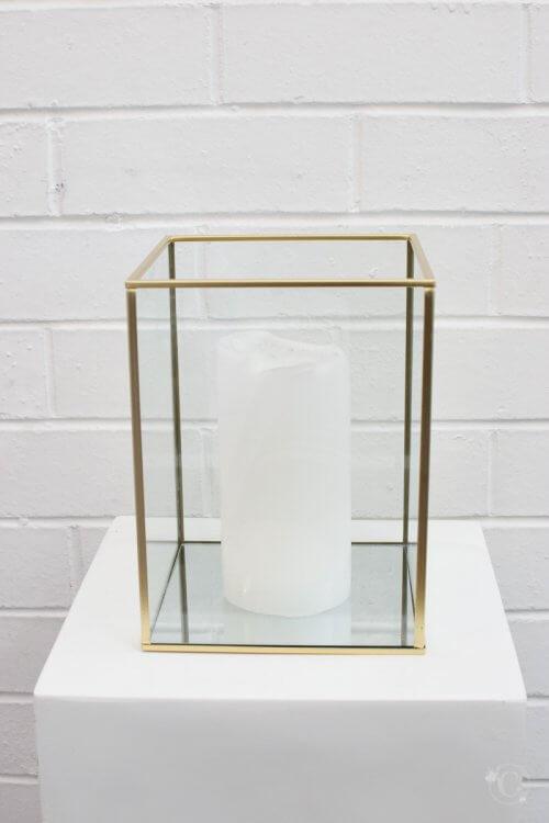 large gold frame candleholder