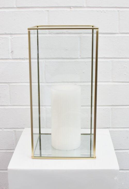 gold frame candleholder
