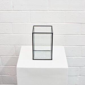 small black Box Candleholder
