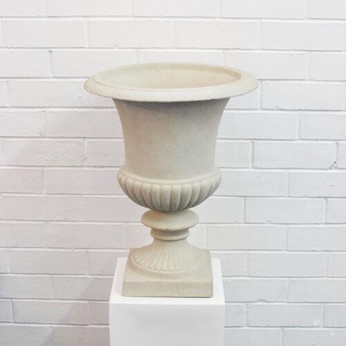 plain sandstone urn