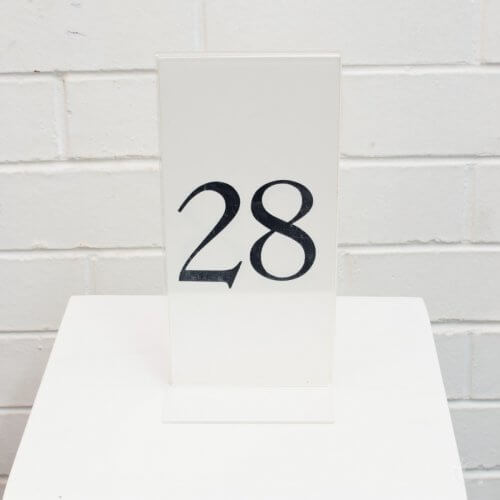 clear table number