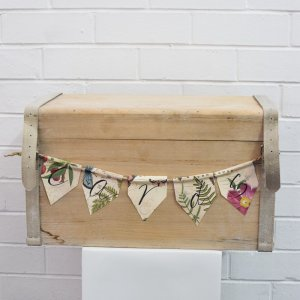 wishing well wooden box with cards sign