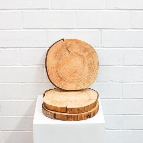 Wood Log Base Centrepiece