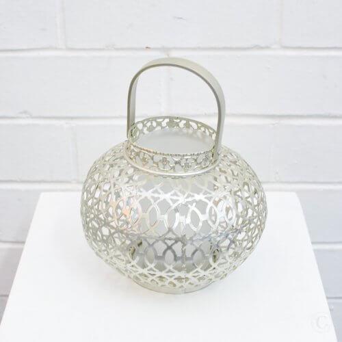 small silver lantern