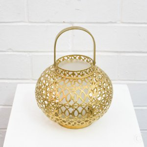 small golden lantern