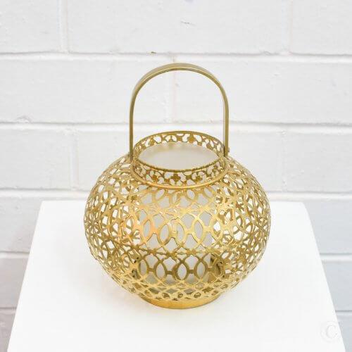 small golden lantern