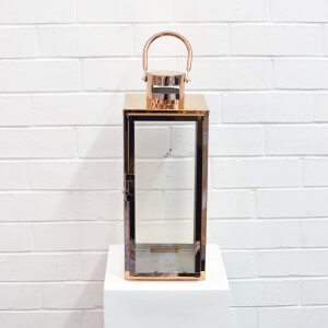Modern Lantern Large Rose Gold