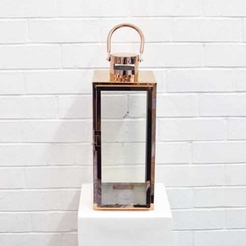 Modern Lantern Large Rose Gold